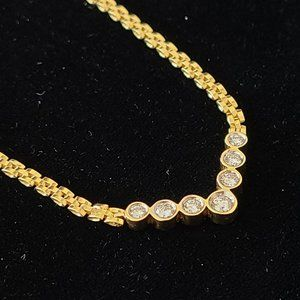 14K Yellow gold and 1.00 ct Diamond 16.5 inches